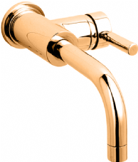 Hudson Reed Tec Side Action Basin Mixer in DoratO 24ct Gold